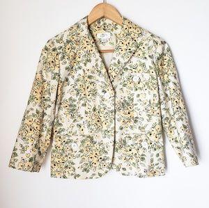 LOFT | Floral Summer Blazer 3/4 Sleeves